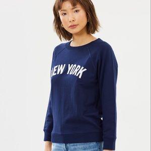 J. Crew Tops - JCREW New York Sweatshirt in Navy
